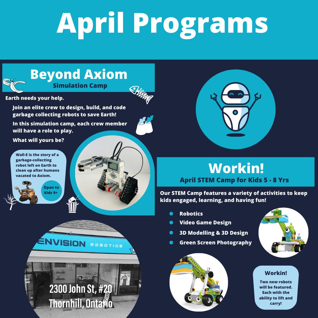March Break Robotics Camp For Kids